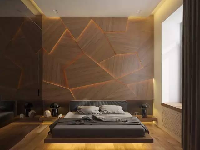 床头灯带效果图