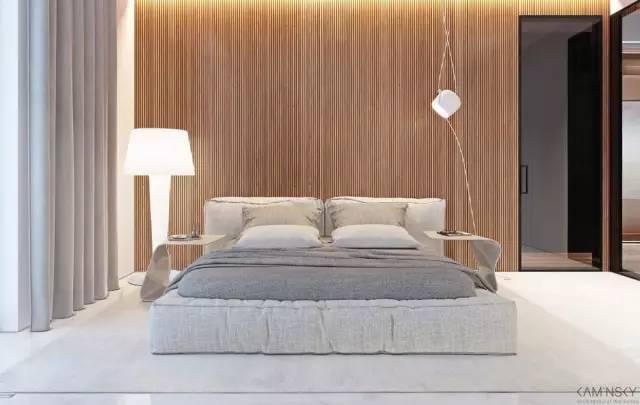 床头背景墙 除了放婚纱照,还能怎么设计 木饰面背景墙 床头的背景墙
