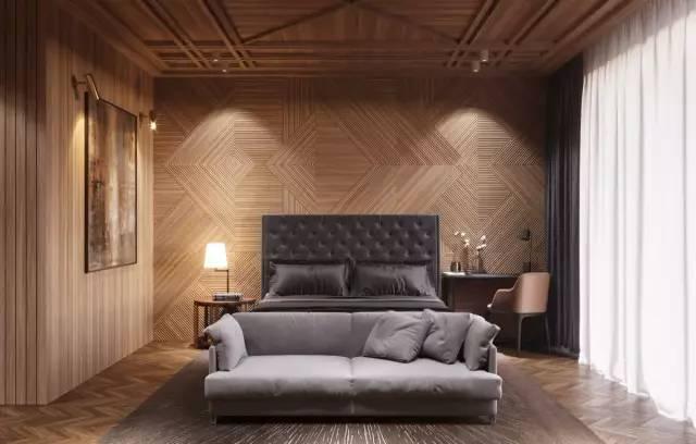 时尚 正文  除了放婚纱照,还能怎么设计 木饰面背景墙 床头的背景墙