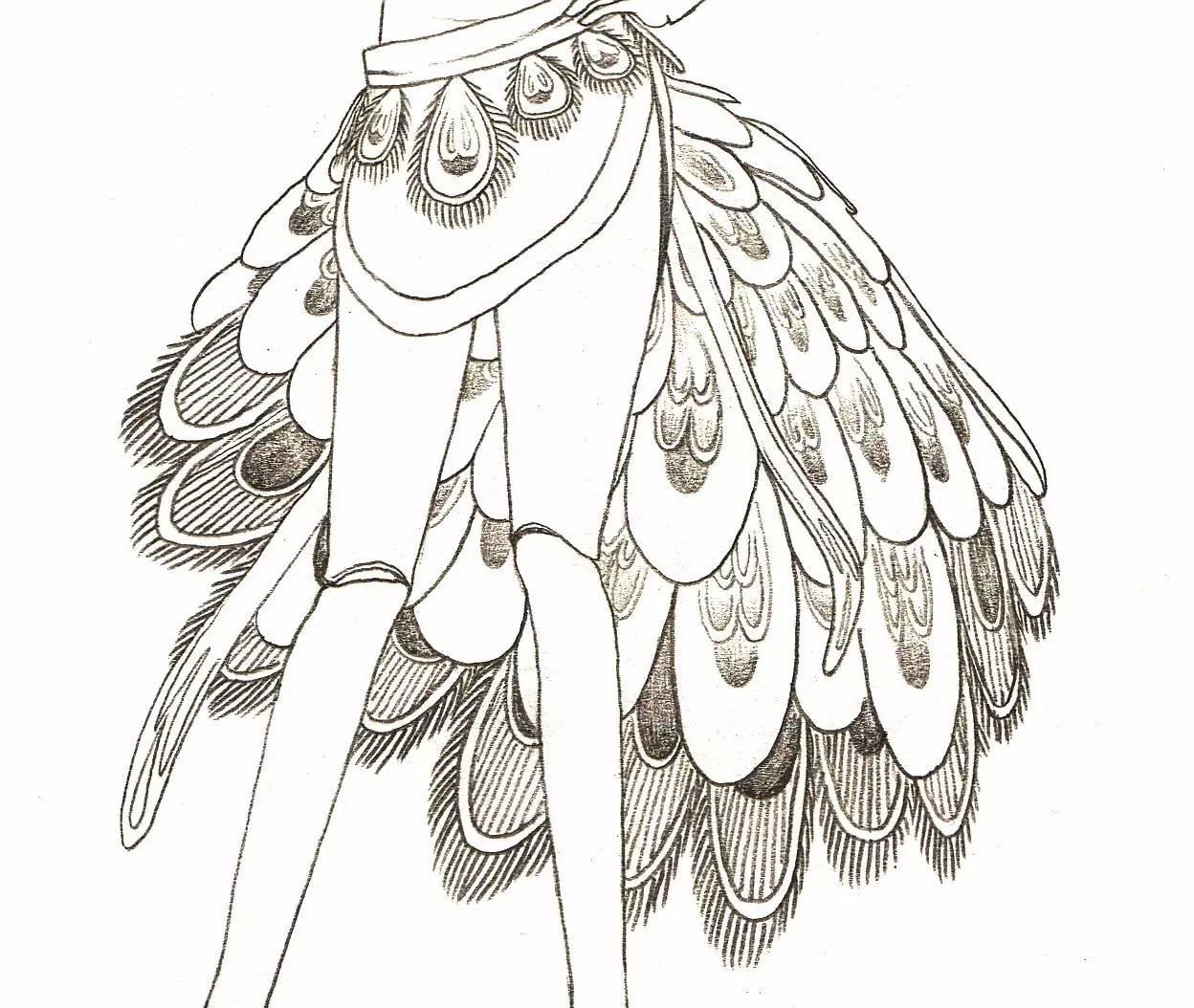 手工折纸步骤图解孔雀