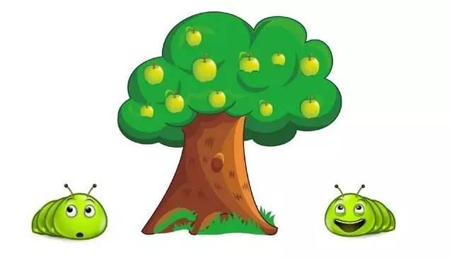 树下纳凉 卡通 图片