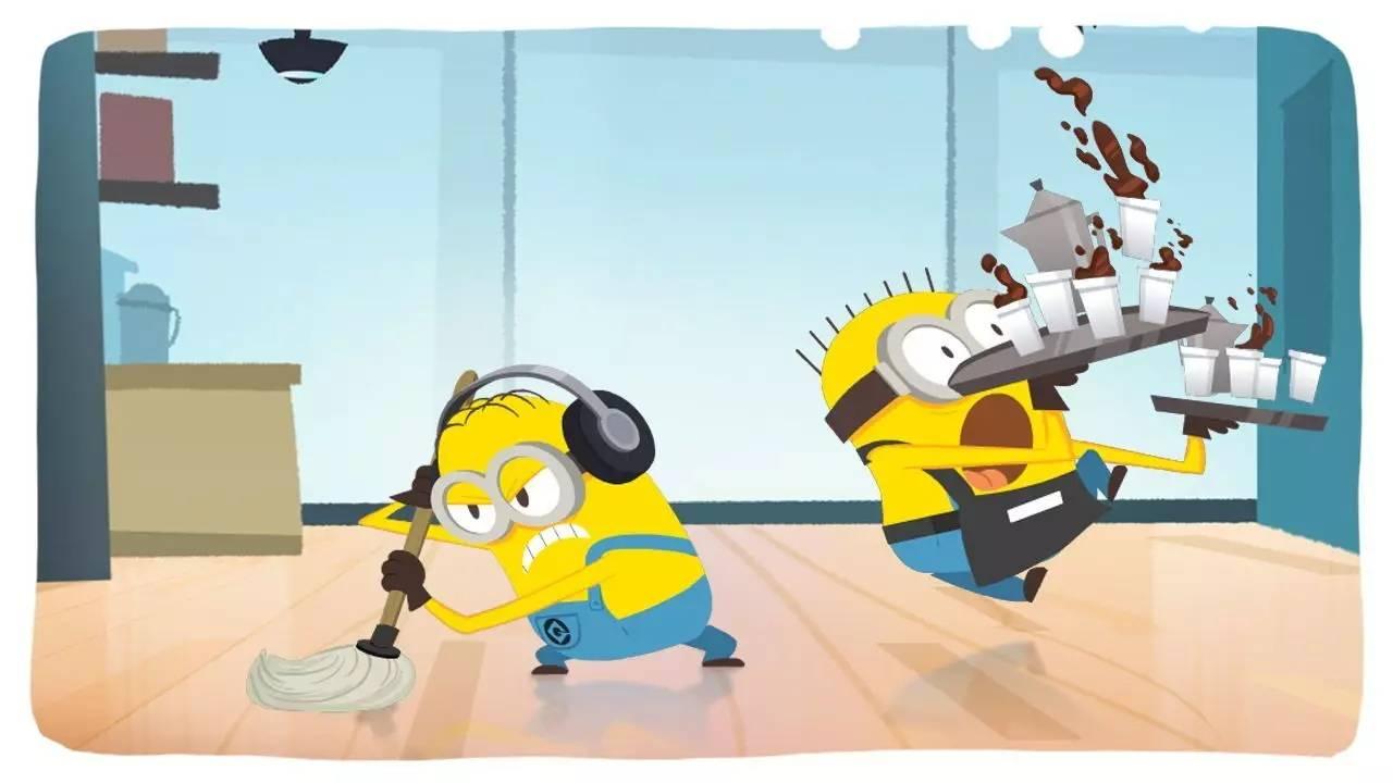 小黄人擦过的地板,苍蝇飞上去都会劈叉!图片