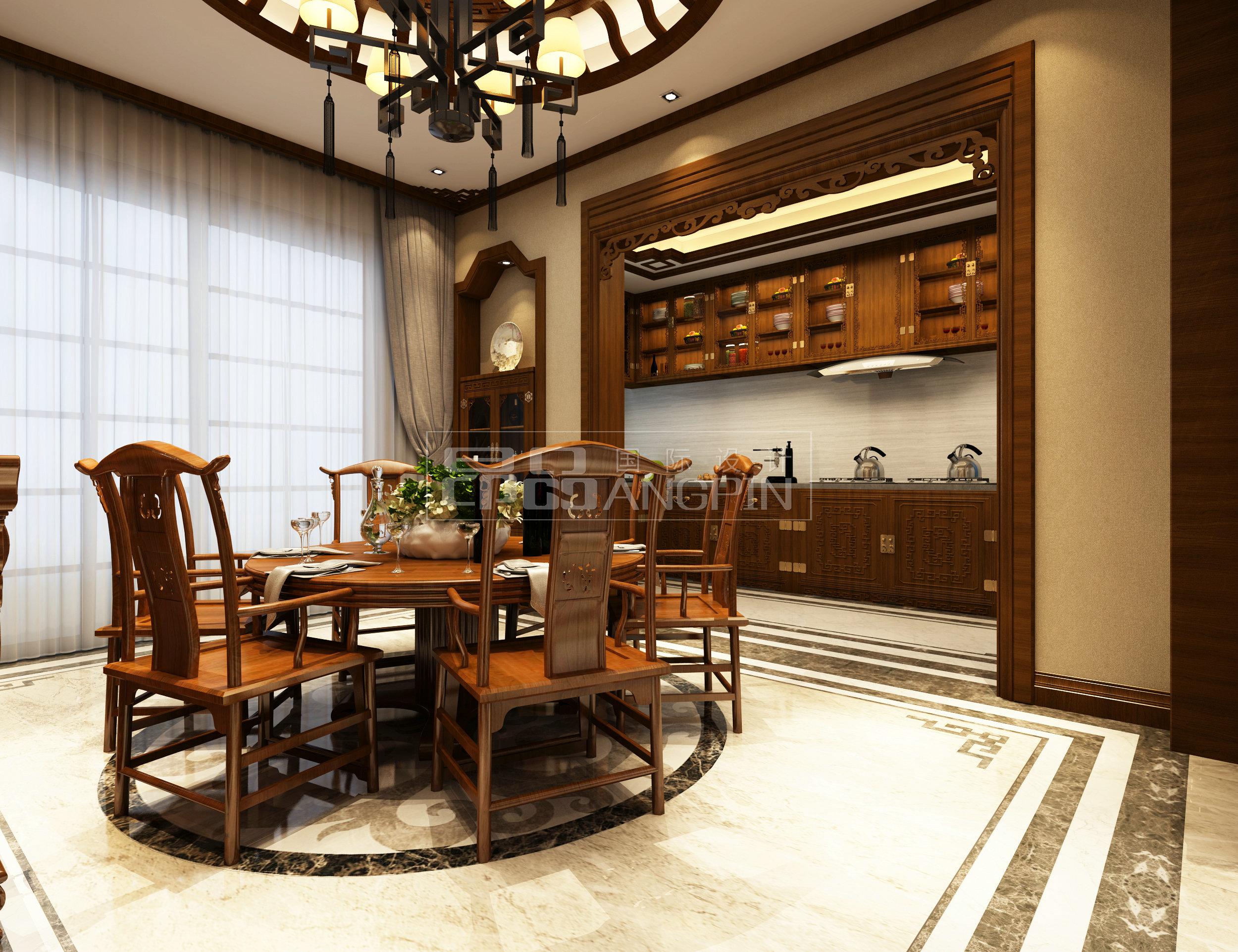 贵阳碧桂园别墅花园装修案例,中式风格园林设计!