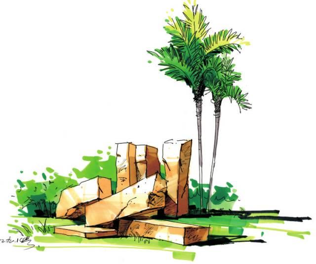 马克植物单体手绘