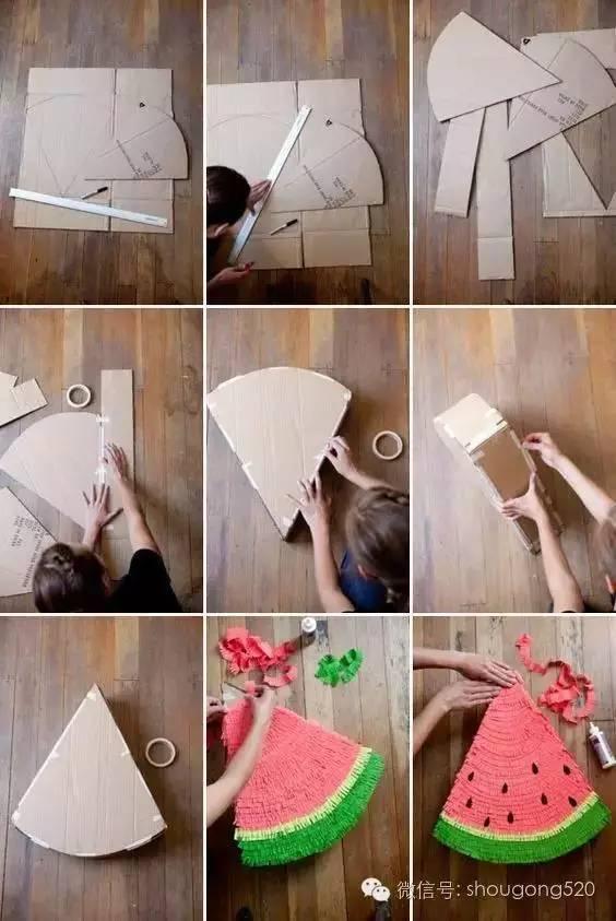 剪刀,胶水,画笔 制作步骤和方法: 剪纸 画画手工制作立体搞怪动物贺卡