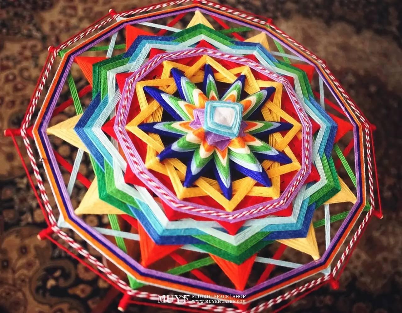 """专注于纯手工原创制作的印第安挂饰,包括mandala""""上帝之眼"""",捕梦网等."""