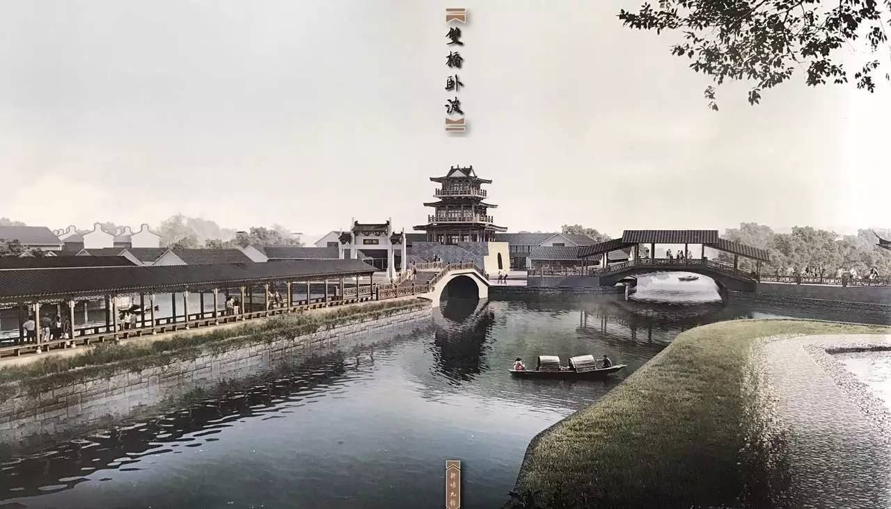 秋桥的河街系统设计和城隍庙,胡氏、陆氏宅邸改造等地块方案水