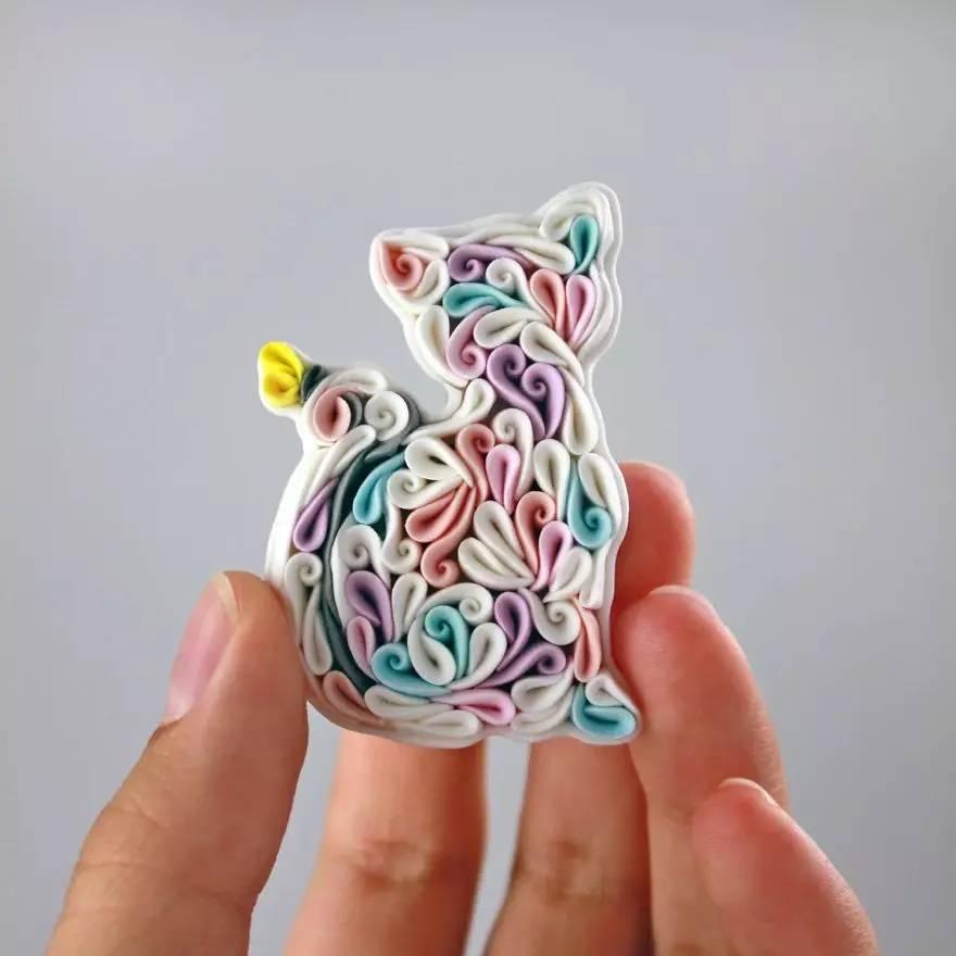 手作丨萌萌的手工软陶动物饰品