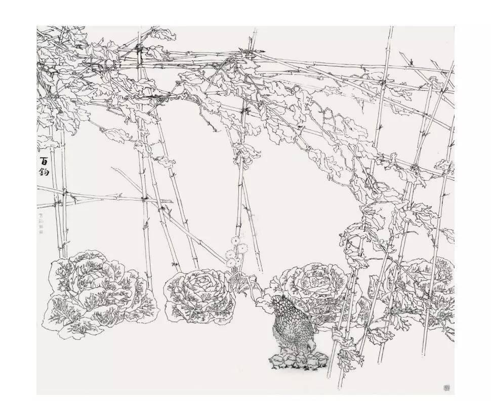 名师风景手绘线稿