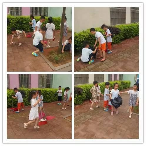 师生一起制作可回收和不可回收垃圾桶,对生活垃圾进行分类.