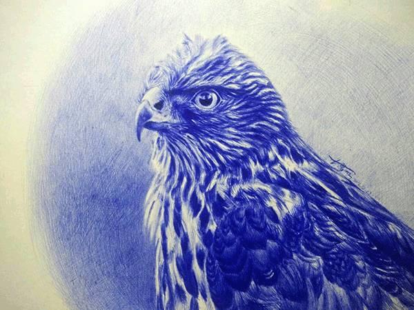 15岁的山里娃,没有任何绘画基础,仅用圆珠笔就画出了震撼人心的作品!