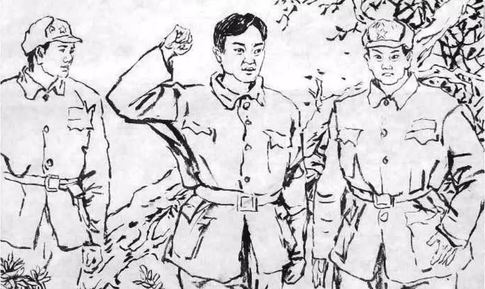 解放军简笔画-画说兵团 忆苦思甜诉衷肠 兵团发展历史连环画之十九