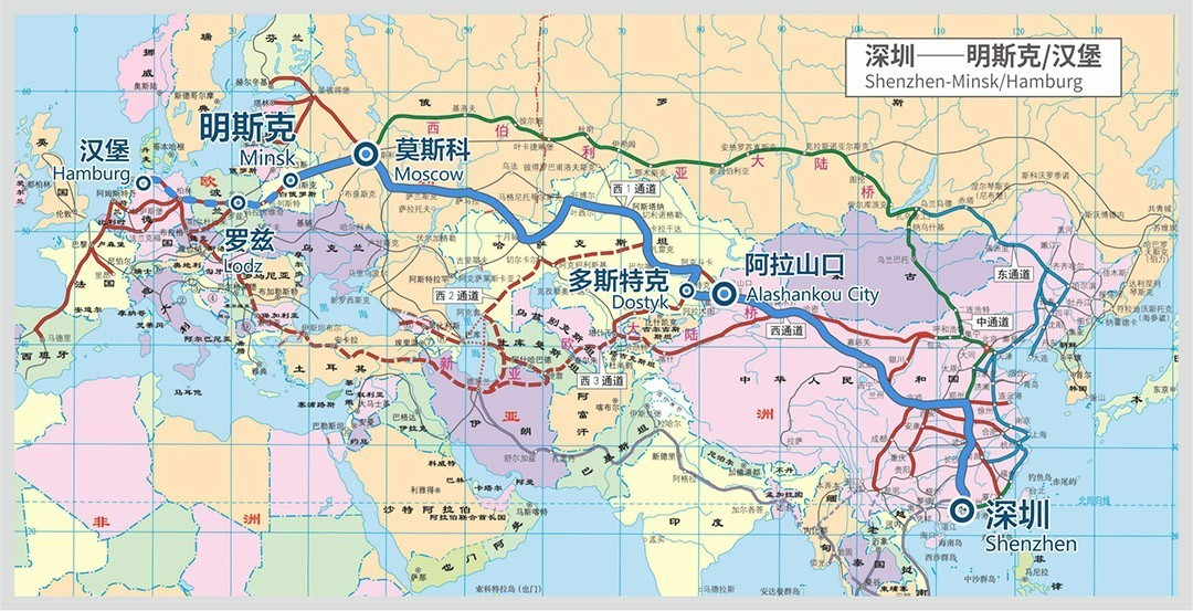 (深圳中欧班列路线图)-选择深圳中欧班列,选择安全稳定的贸易流