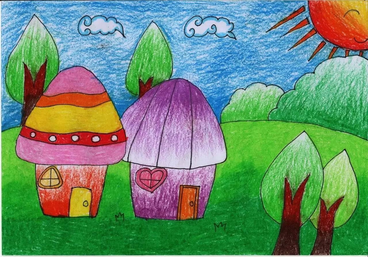 赛场上,各班选手用手中的彩笔书写快乐童年,描绘家乡美景,尽显书画