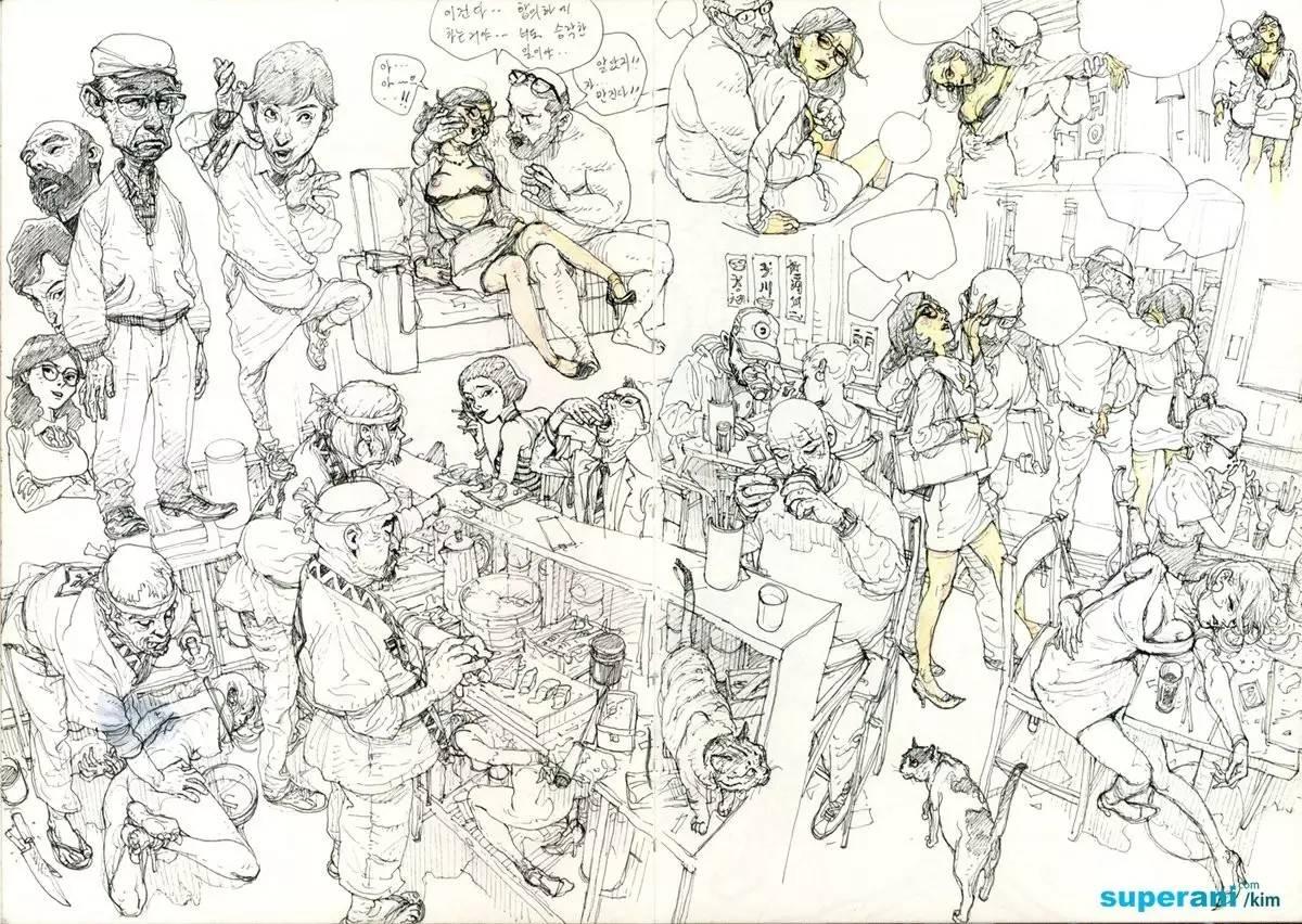 韩国创意手绘画