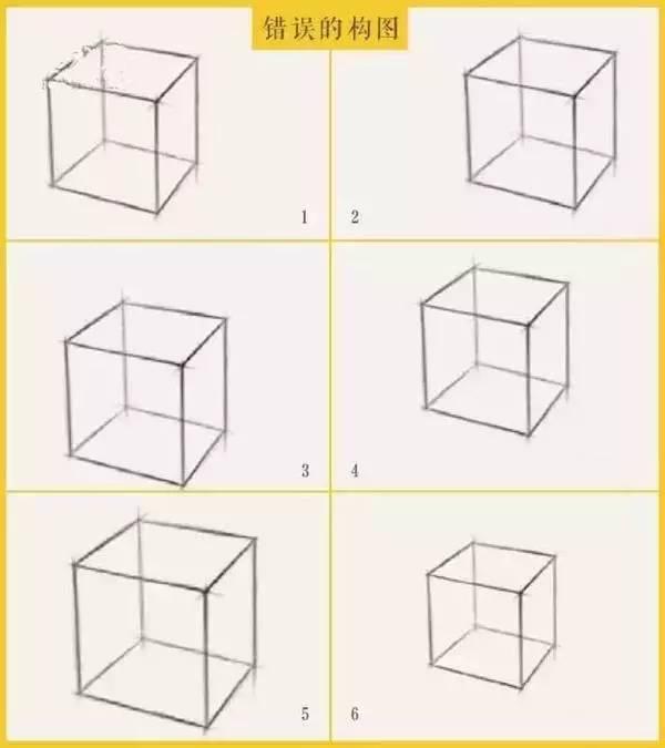 教你全方位认识素描几何正方体