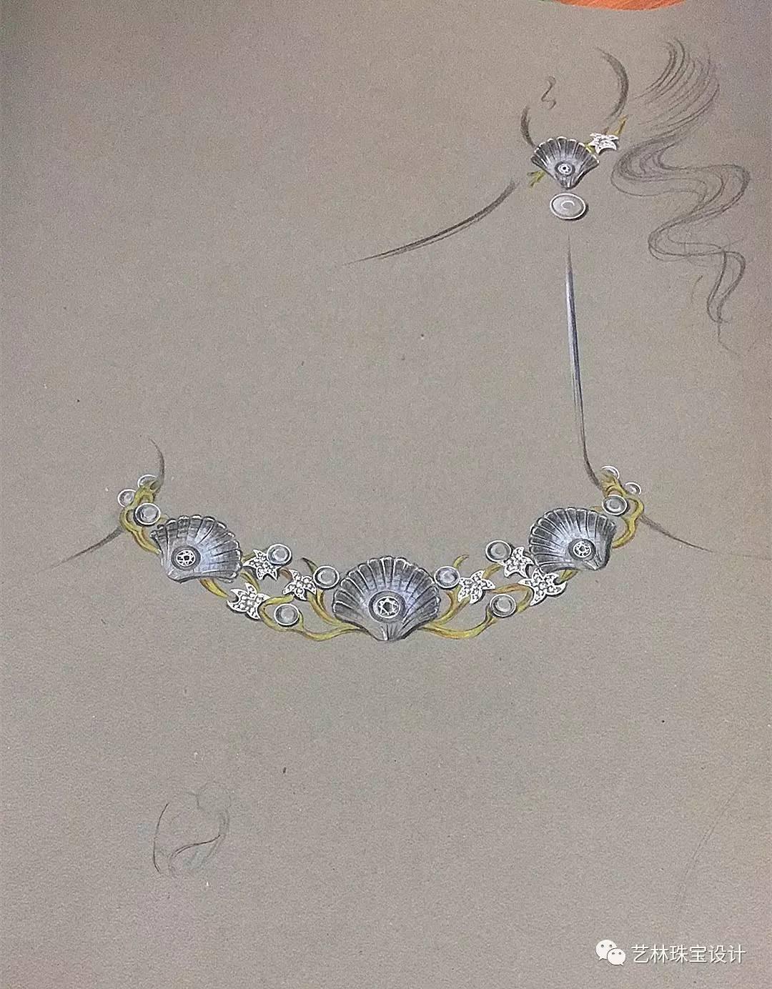 除了美,这珠宝彩铅教程主要传递的是细节!