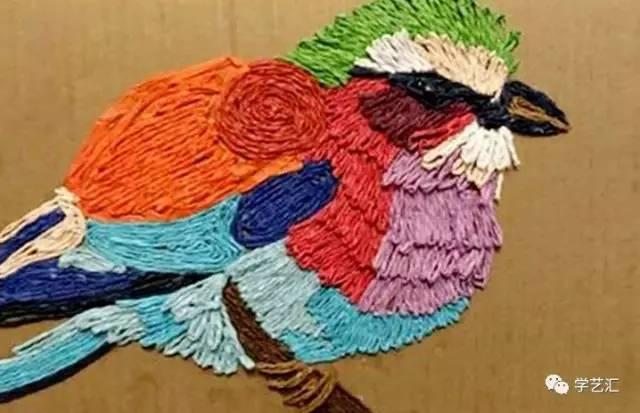 【创意美工】纸绳画——原来打造画面立体感就是这么