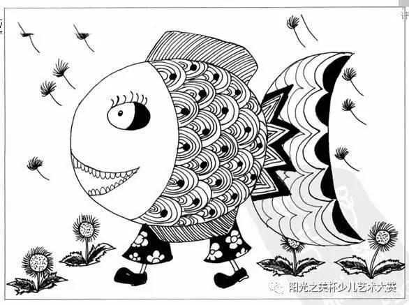 """儿童画 ▏充满想象力的儿童线描""""盛宴"""""""