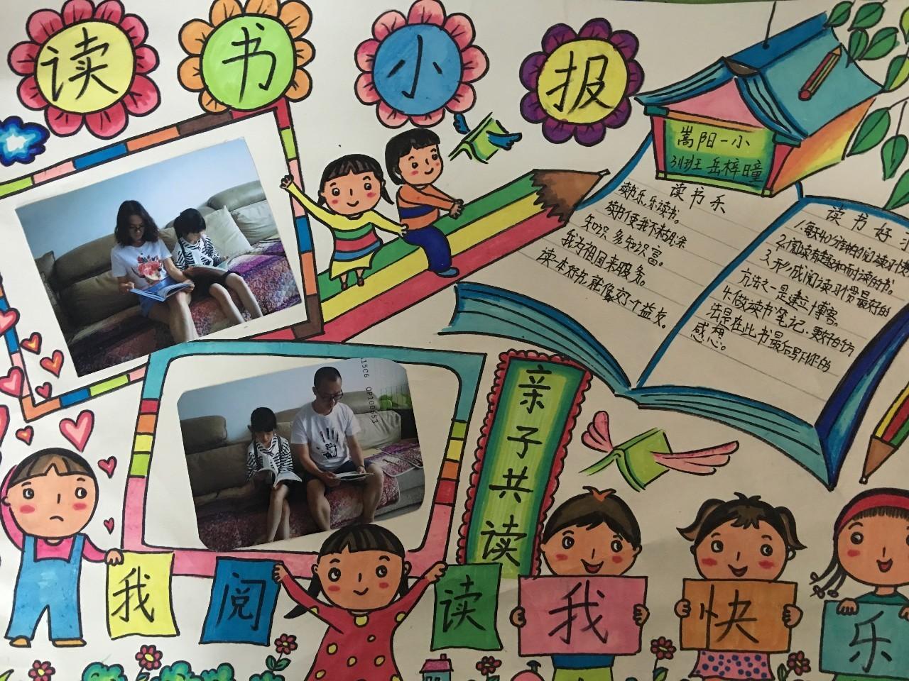 学生手绘读书报