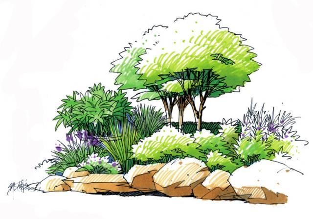 画我们想画的景观手绘!