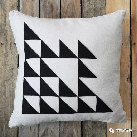 8,diy三角形花纹抱枕