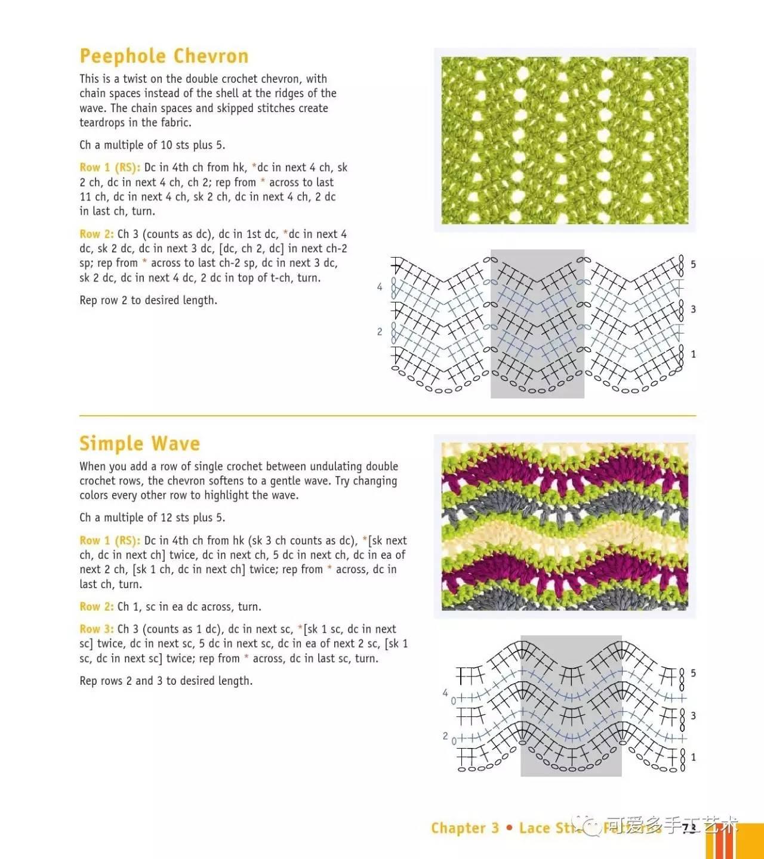 史上最简单的镂空钩针花样大全,夏天钩衣服和包包就能用上!(附图解)
