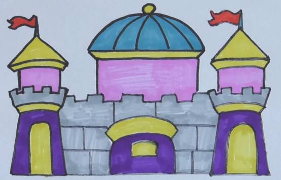 每日一画 梦幻 迪士尼城堡 简笔画,点亮心中的梦
