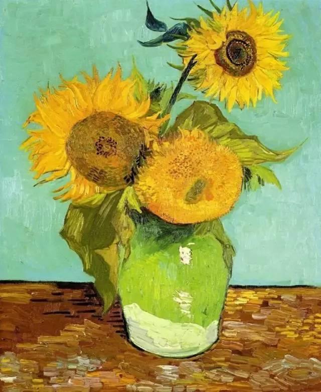 公益绘画课程︱梵高的向日葵︱黄图 春艺