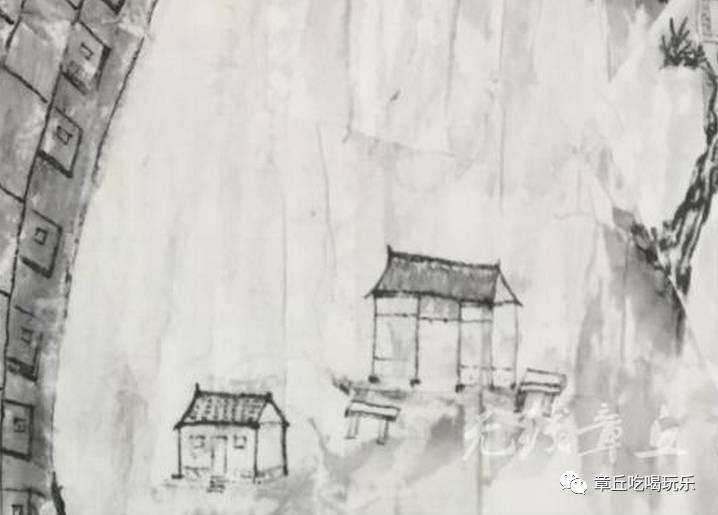 手绘 明水上河图 还原老城昔日风貌