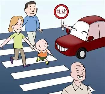 机动车斑马线前不礼让行人会被罚 你知道怎么让吗图片