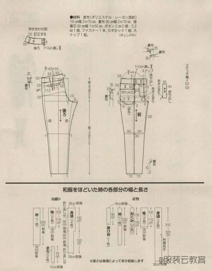 图纸集   女士背带裤(裙),衬衫,西装裁剪图