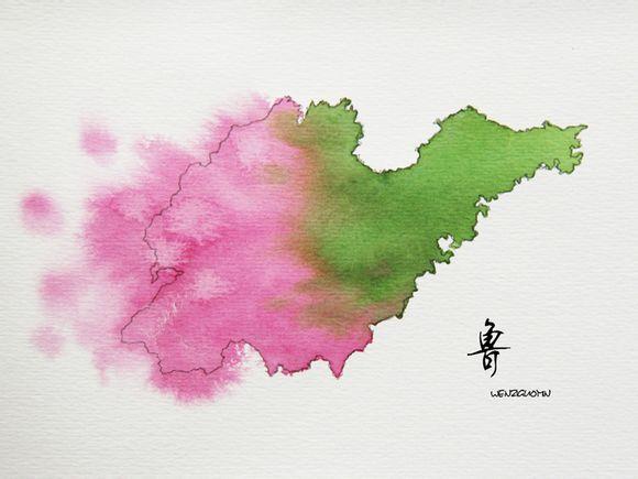意象:水墨中国(省市地图)