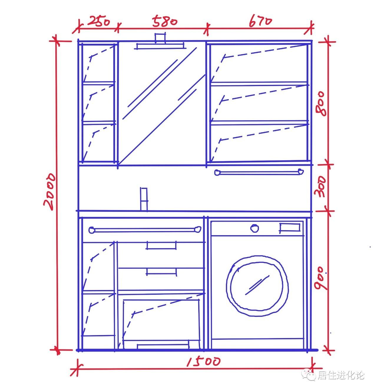 cad画洗衣柜平面图