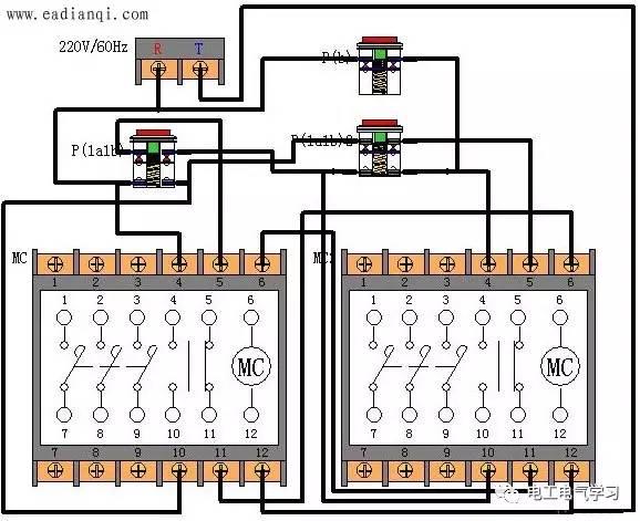 交流接触器电气控制电路中自锁与互锁原理