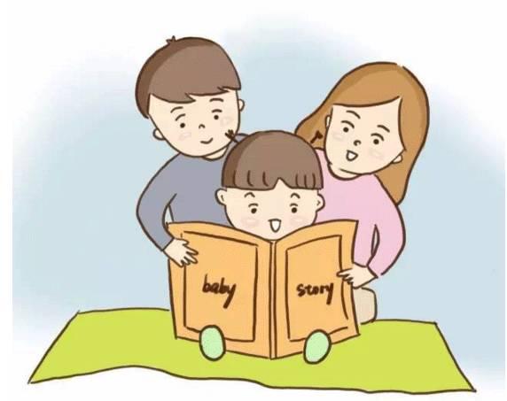 幸福三口之家卡通图片
