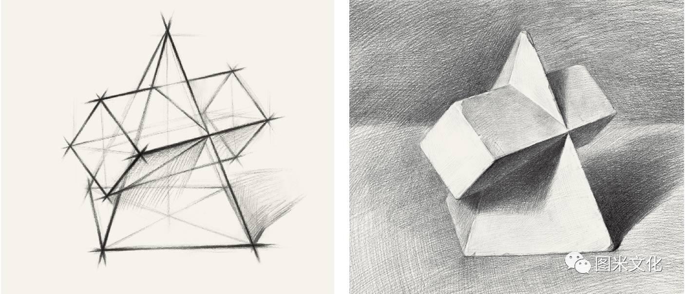 长方体-2017好书推荐 图米文化 素描笔迹 几何形体图片