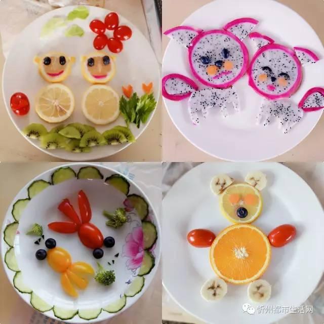 水果动物造型图片简单_水果拼盘造型_水果拼盘造型画法