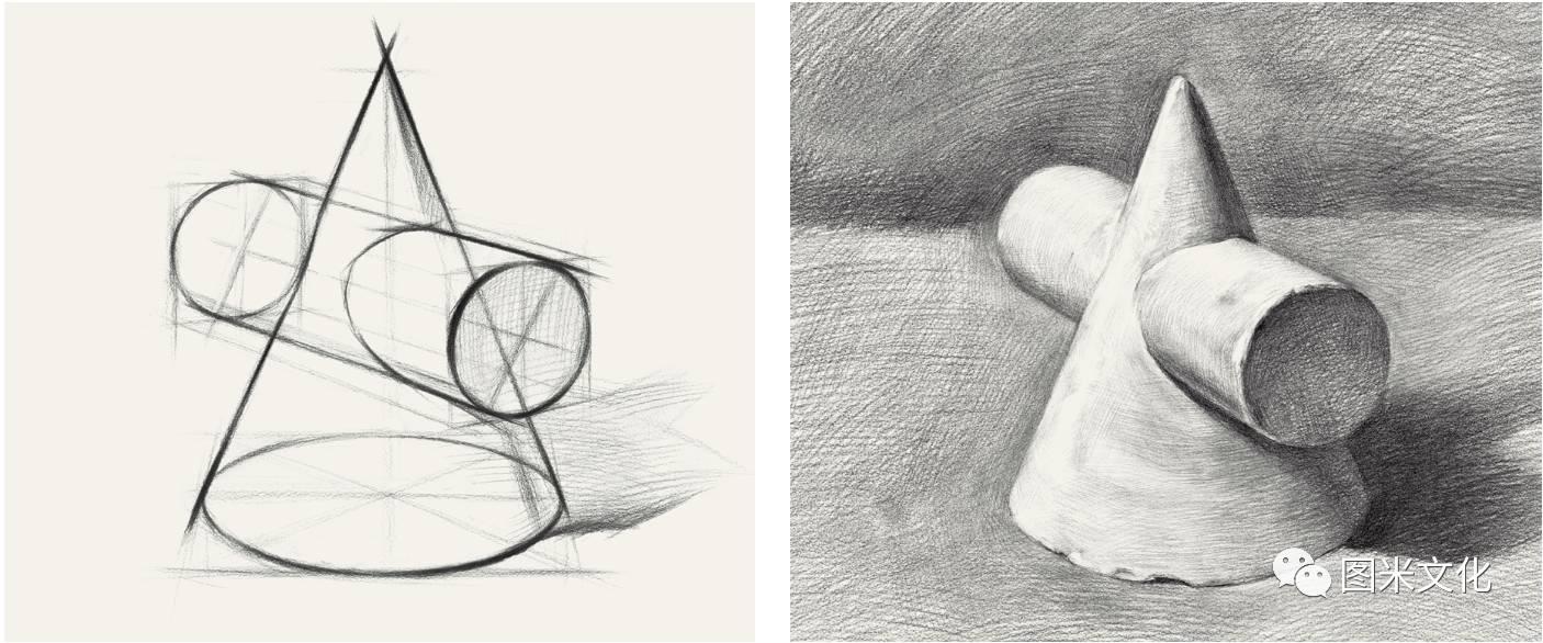 荐 图米文化 素描笔迹 几何形体图片
