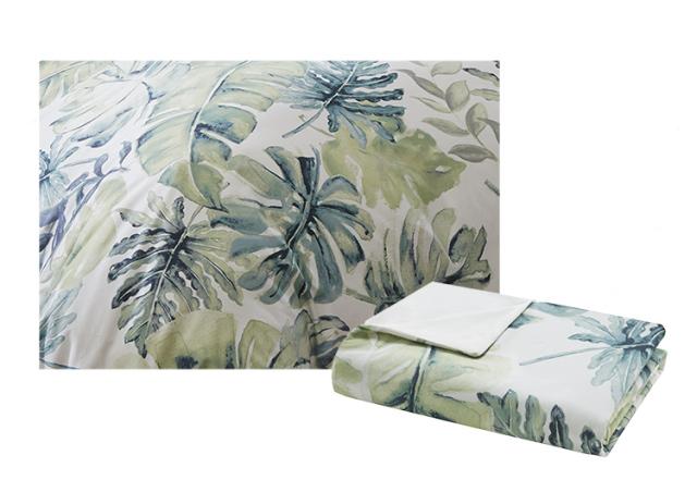 龟背竹图案,由设计师手绘而成.绿植相辉交映,营造热带雨林般的幻想.