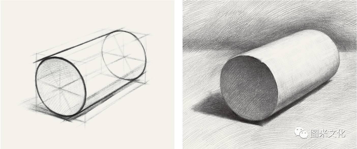 几何透视图-2017好书推荐 图米文化 素描笔迹 几何形体图片