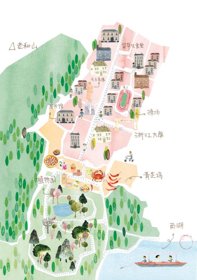 玉泉校区手绘地图