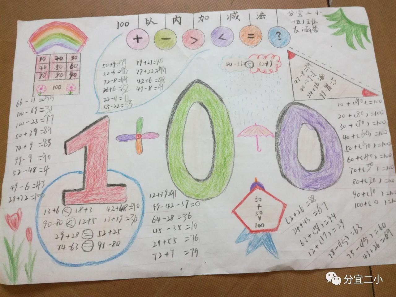生 一年级数学手抄报制作活动