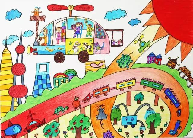 沃尔沃首届职工艺术节儿童画作品评选开始啦