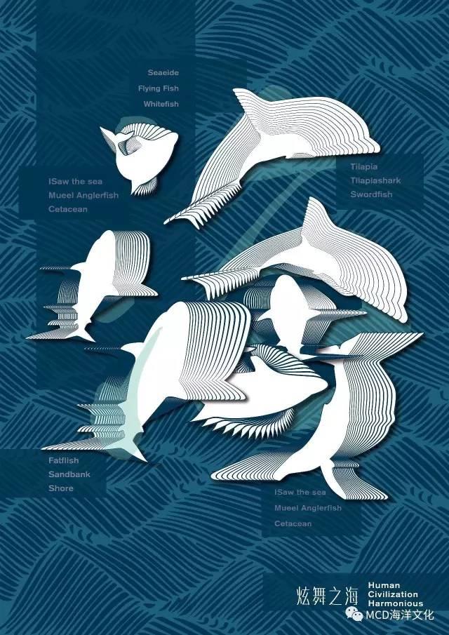 全国大中学生第五届海洋文化创意设计大赛获奖作品公示图片