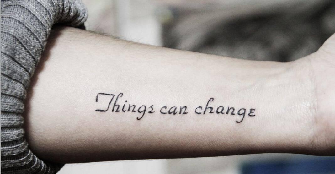 """英文小清新纹身,感受皮肤中的""""爱与诚"""""""