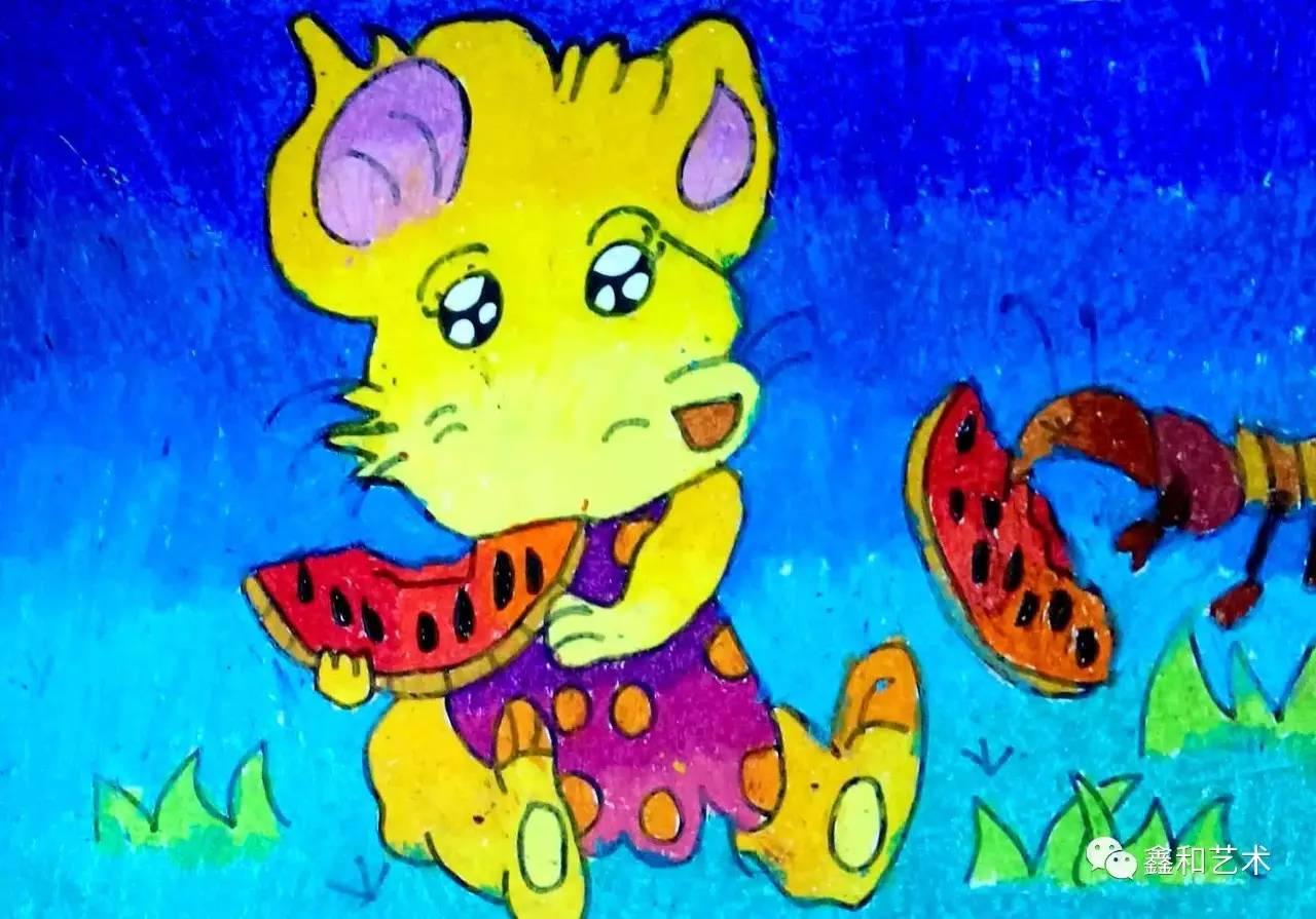 小老鼠和小蜜蜂 8岁 刘芷伊图片
