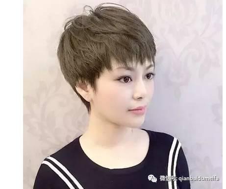 女士纹理烫发发型图片