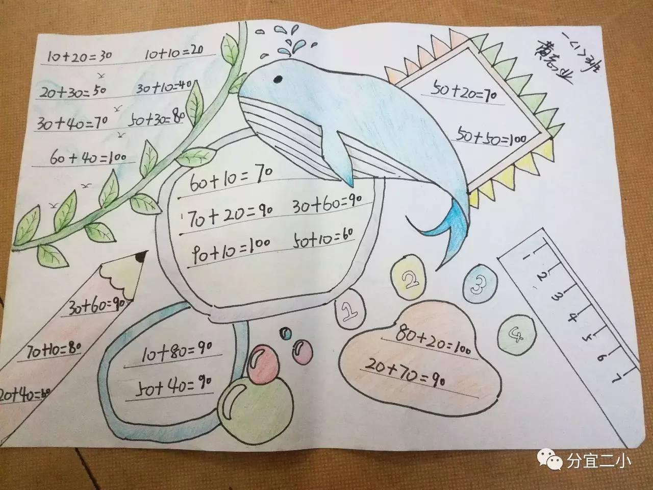 让快乐与数学同行 让智慧与活动共生——一年级数学手抄报制作活动