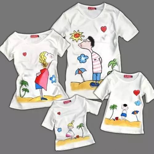"""""""父爱如山 · 手绘t恤送爸爸""""亲子手绘t恤, 最特别的礼物送给最爱的"""